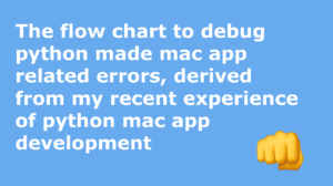 uxcrepe_The flow chart to debug python made mac app related errors, derived from my recent experience of python mac app development